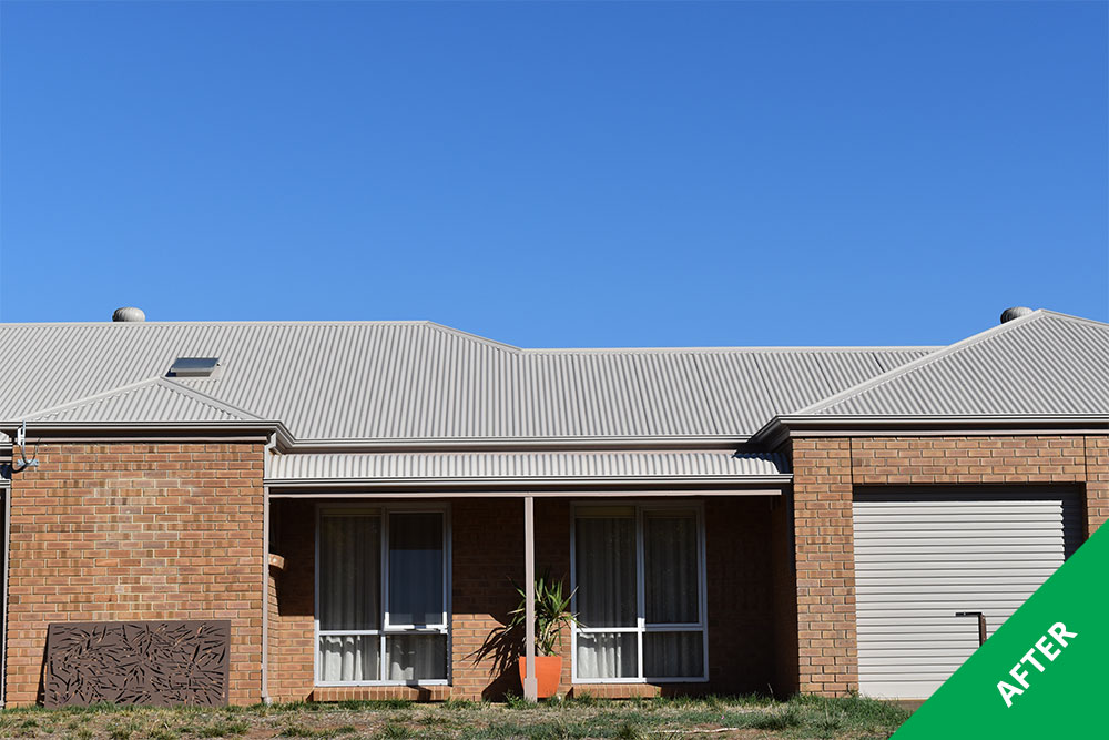 One Tree Hill - COLORBOND® steel roof restoration - Dulux® Acratex® Birch Grey