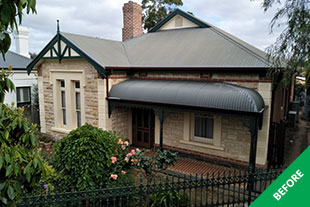 Wayville - metal roof painting- Slate Grey Colorbond -before 2
